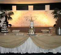Gold & White Wedding Cake Arrangement