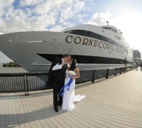 wedding ceremony aboard The Cornucopia Majesty