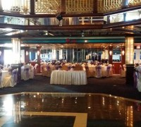 wedding reception aboard The Cornucopia Majesty