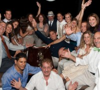 Group Photo of a Yacht Birthday Party in NYC