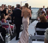 wedding ceremony on yacht