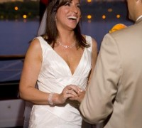 Snapshot of Private Wedding Ceremony on a Yacht: The Exchange of Vows