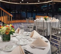 Fine Dining Tables on a Yacht