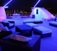 Seating Area on a Yacht at Night in NYC