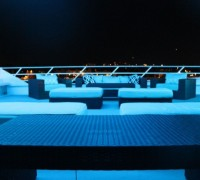 Seating Area at Night on a Yacht in NYC