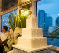 3 tier Wedding Cake on a Yacht